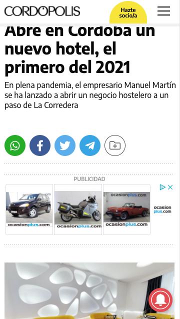 Abre en Córdoba un nuevo hotel, el primero del 2021